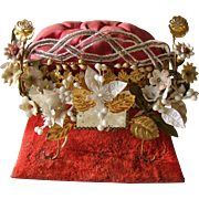 Small French Marriage Tiara Cushion