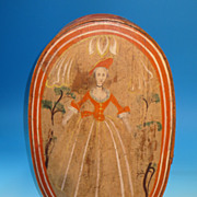 REDUCED A 19th Century painted and decorated Brides Box