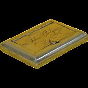 Brass Snuff Box, England, Ninetenth century