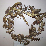Brass Holiday Wreath