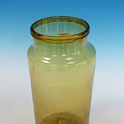 REDUCED Large Olive Amber Jar