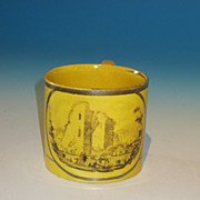 REDUCED Early 19th Century Miniature Canary Lustre Child's Mug