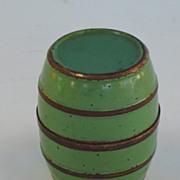 A Barrel shaped box concealing four liquor cups