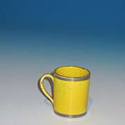 Early 19th Century Miniature Canary Lustre Childs Mug