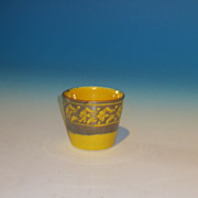 Early 19th Century Miniature Canary Lustre Childs Tumbler