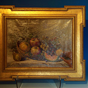 A very fine oil on canvas still life with fruit