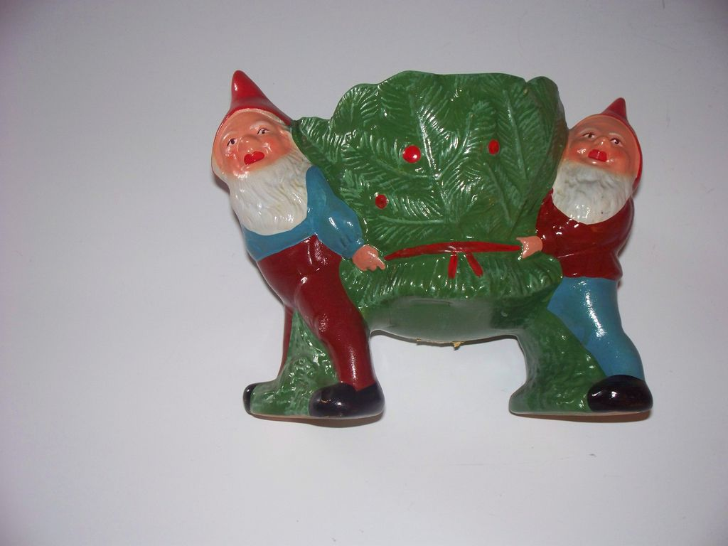 Gnome Plant Receptacle or Sweetmeat Dish