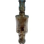 Tall Clear Glass Bottle In Shape of Soldier/Drum Major