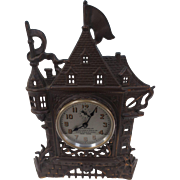 Unusual Art Deco Style Clock in the Form of a Medieval Castle