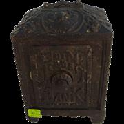 Large cast iron safe bank