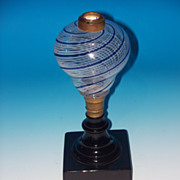Very Rare Latticino Swirl Lamp
