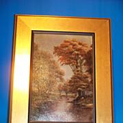 Autumn Scene - Oil on Board