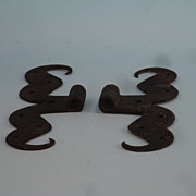 Pr. of Early Iron Ram's Horn Hinges