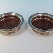 REDUCED Pair of silver plate Wine coasters