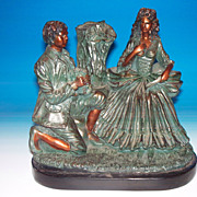 Possible Carved wood ? Sculpture of a courting couple