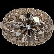 REDUCED Art Deco Platinum and 2.75 Carat Diamond Ring  -- GORGEOUS --