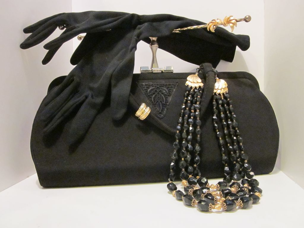 Collection Of Ladies Vintage Accessories For Your Little Black Outfit