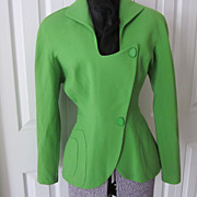 REDUCED Fabulous, Luscious Lime  Designer Jacket by Thierry Mugler