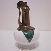 Retro Table Top Brass & Ceramic Lighter