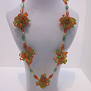 Very Funky Vintage  Plastic Necklace Made In Western Germany