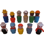 Collection of Fisher Price Little People with hats
