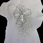Gorgeous Vintage Beaded Wedding Veil