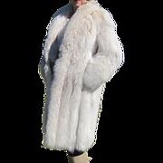 Stunning Blond Fox Fur Full Length Coat