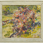 SOLD Impressionist Style Framed Landscape Painting, Oil on Canvas