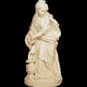 """SOLD Antique Copeland Parian Sculpture """"Temperance"""", The Water Pourer, Porcelain Fig"""