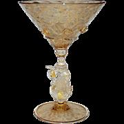 Venetian Glass Martini Stem Swan Vintage, 2 of 3