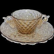 Vintage Venetian Glass Swan Bowl Plate, 2 of 3
