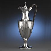 Hester Bateman Wine Jug, Antique Silver Wine Jug