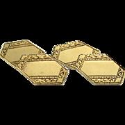 Art deco gold on silver cufflinks
