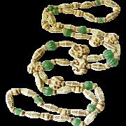 REDUCED Max Neiger Elephant long bead sautoir necklace