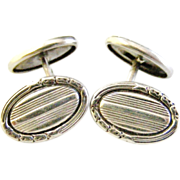 REDUCED Antique French 800-900 silver cufflinks