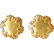 REDUCED French antique FIX gold fill art nouveau cufflinks