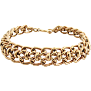 French rose gold on silver woven bracelet vintage unsold stock