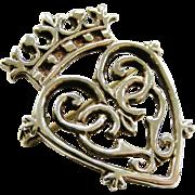 Vintage sterling silver Luckenbooth brooch