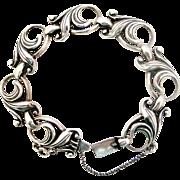SALE PENDING Heavy sterling silver vintage art nouveau bracelet