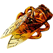 Art deco French cicada brooch Elizabeth Bonte / Georges Pierre