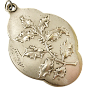 REDUCED French art nouveau holly slide mirror locket