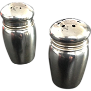 Sterling Silver Salt & Pepper Shakers with Owl Hallmark