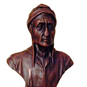 Wonderful Vintage French Bronze Clad Statue of Dante Alighieri C. 1900-1930