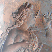Beautiful Antique Plaque or Mold of Classical Greek or Roman Goddess 1860-1900