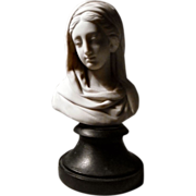 SOLD Exceptional Collector's Antique Decorative Parian Bust of Woman