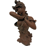 """REDUCED Wonderful French Art Nouveau Bust Entitled """"Si J'osai"""" by Alfred Jean Foreta"""