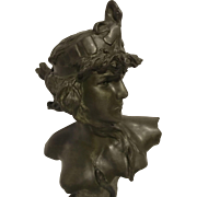 REDUCED Exquisite Large French Art Nouveau Bust of Cleopatre by Pedro Ramon Jose Rigual - ...