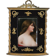 A 19th Century Berlin Hand Painted Porcelain Plaque Depicting Erbluht.