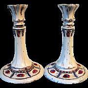 Rare Cast Iron Hubley Tall Candlesticks