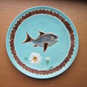 Antique Circa 1860 English Joseph Holdcroft  Majolica Plate